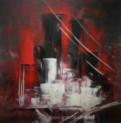 tableau abstrait art abstrait cubisme edwige lefevre tableau modernisme couteau edwige lefevre creation edwige lefevre cubisme moderne abstrait : N-Y