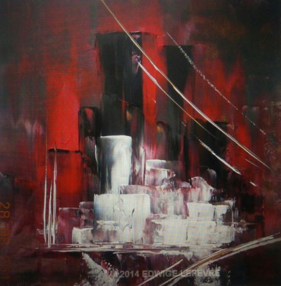TABLEAU PEINTURE art abstrait cubisme edwige lefevre tableau modernisme couteau edwige lefevre création edwige lefevre cubisme moderne abstrait Abstrait Acrylique  - N-Y