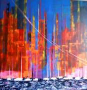 painting abstrait tableau abstrait contemporain : MANHATANN