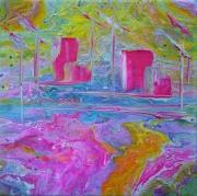 tableau autres abstrait art contemp abstrait marine cont creation edwige lefe art original peintur : Cité de la voile TABARLY Lorient