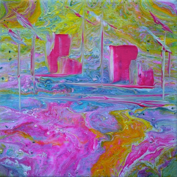 TABLEAU PEINTURE abstrait art contemp abstrait marine cont création edwige lefe art original peintur  - Cité de la voile TABARLY Lorient