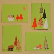 autres autres noel nouvel an cartes voeux creations originales vert : cartes de voeux