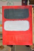 tableau abstrait rouge noir blanc bandes de couleurs : le rouge , le noir et le blanc