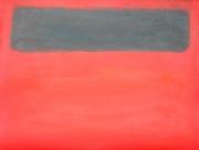 tableau abstrait rouge noir rothko aplat de couleurs : le noir et le rouge