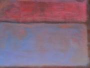tableau abstrait abstrait bleu et rose acrylique : le rose et le bleu