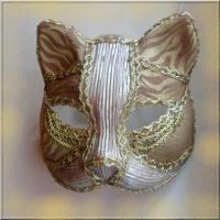 Masque vénitien or et argent