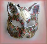 masque vénitien (fleurs et feuilles)