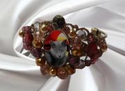 bijoux animaux baroque chat chartreux : bracelet baroque avec chat des chartreux