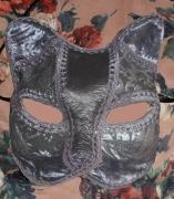 artisanat dart animaux art animalier masque venitien fait main chat : masque vénitien de chat argenté