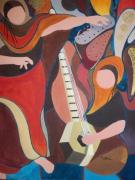 tableau abstrait : shahrazad du sahara