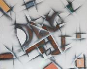 tableau abstrait : LE CRABE