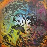 ceramique verre abstrait fractale verre : Fractale 016