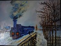 Train dans la neige (d'après Claude Monet)