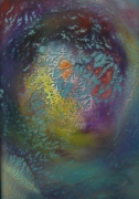 ceramique verre abstrait fractale peinture sur verre : Fractale 030