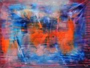 tableau abstrait embrasement lumiere : Embrasement