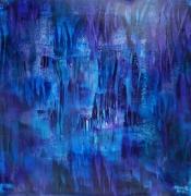 tableau abstrait iceberg glace lumiere abstrai : Dans le coeur de l'iceberg