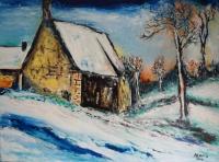 Ferme sous la neige (d'après Maurice de Vlaminck)