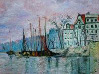 Quai du prince à Amsterdam (d'après Claude Monet)
