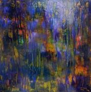 tableau abstrait miroir brise verre eclats abstrai : Miroir brisé