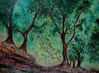 Bois d'oliviers dans le jardin Moreno ( d'après Claude