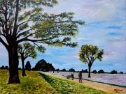 tableau abstrait versailles louveciennes alfred sisley : La route de Versailles à Louveciennes (d'après Alfred Sisle