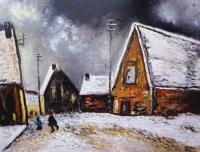 Village sous la neige (d'après Maurice de Vlaminck)
