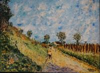 Chemin montant (d'après Alfred Sisley)