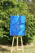 tableau abstrait fecondation eau esprit mouvement : création