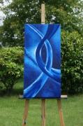 tableau abstrait esprit eau bleu mouvement : esprit
