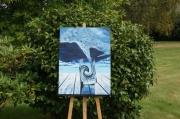 tableau paysages eau vie bleu pluie : EAU