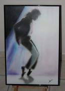 tableau michael jackson portrait aerographe aerographie : Michael Jackson