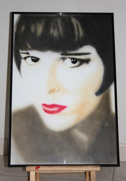 PAINTING Louise Brooks aérographie aérographe Acrylique  - Louise Brooks