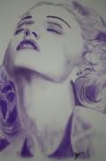 tableau madonna portrait aerographe aerographie : Madonna