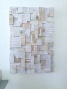 tableau abstrait abstrait collage : construction