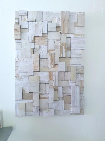 TABLEAU PEINTURE abstrait collage Abstrait Collage  - construction