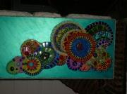 artisanat dart paysages tableaux mosaique peinture bulles : oxigene