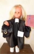art textile mode scene de genre poupees avocat avocate tenor du barreau : Poupée Avocate