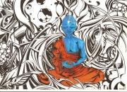 tableau personnages buddha boudda boudha bouda : BUDDHA