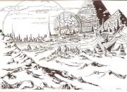 tableau paysages science fiction futur loin present : STARGATE
