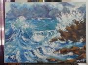 tableau paysages ocean agitee : mer