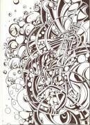 tableau abstrait bulles bubble bulles air : BUBBLE
