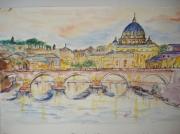 autres architecture : pont ST Ange sur le Tibre