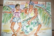 autres personnages danseur de baris bali indonesie : Apprentissage Danse