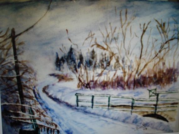 AUTRES Paysages  - paysage de neige