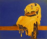 tableau autres voiture jaune : voiture dégoulinante jaune