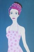 tableau personnages : La robe rose