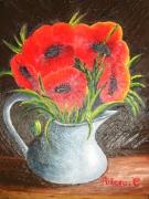 tableau fleurs fleur vase coquelicot : les coquelicots