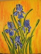 tableau fleurs fleur iris : les iris
