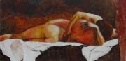 tableau nus couple enlacement drape calin : Repos