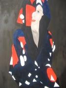 tableau personnages femme bleu blanc rouge patrie france : Marianne